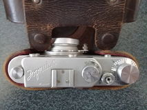 Weinlese-Entfernungsmesser-Kamera Zorki C Stockfotografie