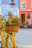 Weinlese-Fahrrad-Dekoration lizenzfreies stockbild