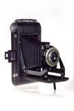 Weinlese-Faltblatt brüllt Kamera Stockfotografie