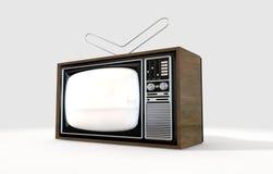 Weinlese-Fernsehen Stockbilder