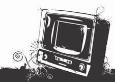 Weinlese-Fernseher Lizenzfreie Stockfotos