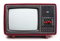 Weinlese-Fernseher Lizenzfreies Stockbild