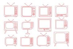Weinlese-Fernseher Stockbild