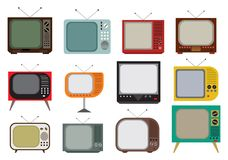 Weinlese-Fernseher Stockfotos