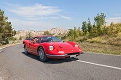 Weinlese Ferrari Dino GT Stockfotos