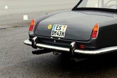 Weinlese Ferrari im Grau an einer Sammlung Stockfoto