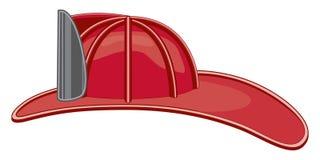 Weinlese-Feuerwehrmann-Sturzhelm oder Feuerwehrmann-Hut stock abbildung