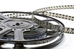 Weinlese-Film-Streifen und Spule Stockfotografie