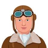 Weinlese-Flieger Große Illustration eines Weinlese-Pilot-Isolated In White-Hintergrundes Auch im corel abgehobenen Betrag lizenzfreie abbildung