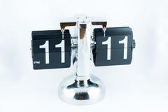 Weinlese Flip Clock Lizenzfreie Stockbilder
