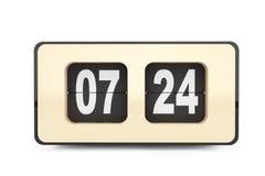Weinlese Flip Clock Wiedergabe 3d Lizenzfreies Stockfoto