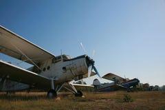 Weinlese-Flugzeug Stockfotografie