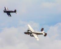 Weinlese-Flugzeuge an der 2015 MCAS-Flugschau, Beaufort, Sc Lizenzfreies Stockfoto