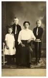 Weinlese-Foto der Familie Stockfotos