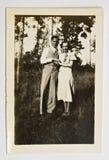 Weinlese-Foto eines Paares Lizenzfreies Stockbild
