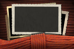 Weinlese-Foto-Rahmen mit Kletterseil Lizenzfreies Stockbild