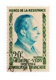 Weinlese-Frankreich-Briefmarke Stockbild