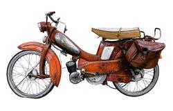 Weinlese-Franzose-Moped Stockfotografie