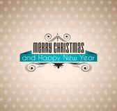 Weinlese-frohe Weihnacht-Papierhintergrund Lizenzfreies Stockfoto
