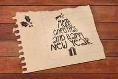 Weinlese-frohe Weihnachten und glückliches neues Jahr Lizenzfreie Stockbilder