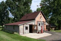 Weinlese-Garage Stockfoto