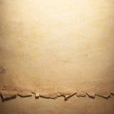 Weinlese gealtertes altes Papier Ursprünglicher Hintergrund oder Beschaffenheit Lizenzfreies Stockbild