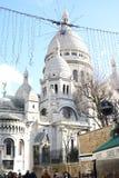 Weinlese-Gebäude-Fassaden in Paris stockfoto
