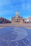 Weinlese-Gebäude von Rathaus, Delt, Holland Stockbild