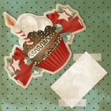 Weinlese-Geburtstag-kleiner Kuchen stock abbildung