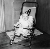 Weinlese-Geburtstags-Baby-Bild-Fünfziger Jahre Stockfotos