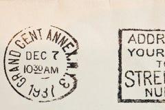 Weinlese gelb gefärbter Umschlag Lizenzfreies Stockfoto