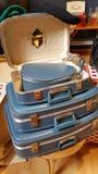 Weinlese-Gepäck Stockfoto