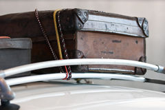 Weinlese-Gepäck Stockbild