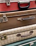 Weinlese-Gepäck stockbilder