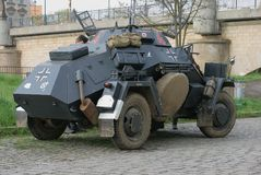 Weinlese-gepanzertes Fahrzeug lizenzfreies stockfoto