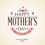 Weinlese-glückliche Mutter-Tageskarte Stockbilder