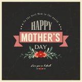 Weinlese-glückliche Mutter-Tageskarte Stockbild