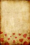 Weinlese grunge Papier mit rotem Innerem Stockfoto