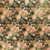 Weinlese-Grungy beunruhigte Blumenrosen-Tapete Stockbilder
