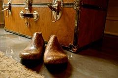 Weinlese-hölzerne Schuh-Bahre oder Schuhspanner stockbilder