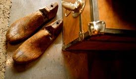 Weinlese-hölzerne Schuh-Bahre oder Schuhspanner stockbild