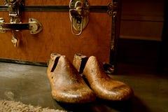 Weinlese-hölzerne Schuh-Bahre oder Schuhspanner stockfotografie