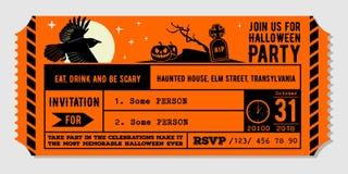 Weinlese-Halloween-Parteieinladungs-Designschablone stock abbildung