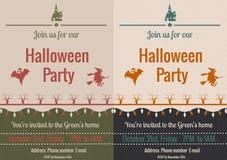 Weinlese-Halloween-Parteiflieger Lizenzfreies Stockfoto