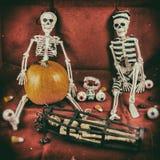 Weinlese-Halloween-Szene 1 Lizenzfreies Stockbild