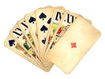 Weinlese-Hand der Karten Stockbild