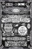Weinlese-Hand gezeichnete Fahnen und Aufkleber Lizenzfreie Stockbilder