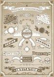 Weinlese-Hand gezeichnete grafische Seiten-Fahne Stockbild