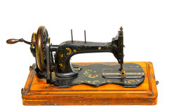 Weinlese-handgemalte Nähmaschine Stockbilder