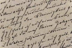 Weinlese-Handschrift Lizenzfreie Stockfotos